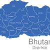 Map Bhutan Distrikte Haa