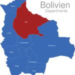 Map Bolivien Departments Beni