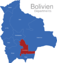 Map Bolivien Departments Chuquisaca