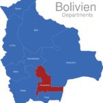 Map Bolivien Departments Chuquisaca