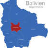Map Bolivien Departments Cochabamba
