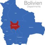 Map Bolivien Departments Cochabamba