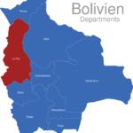 Map Bolivien Departments La_Paz