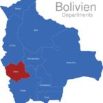 Map Bolivien Departments Oruro