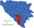 Map Bosnien Herzegowina Kantone Herzegowina-Neretva