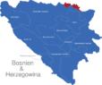 Map Bosnien Herzegowina Kantone Posavina
