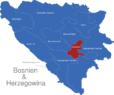 Map Bosnien Herzegowina Kantone Sarajevo