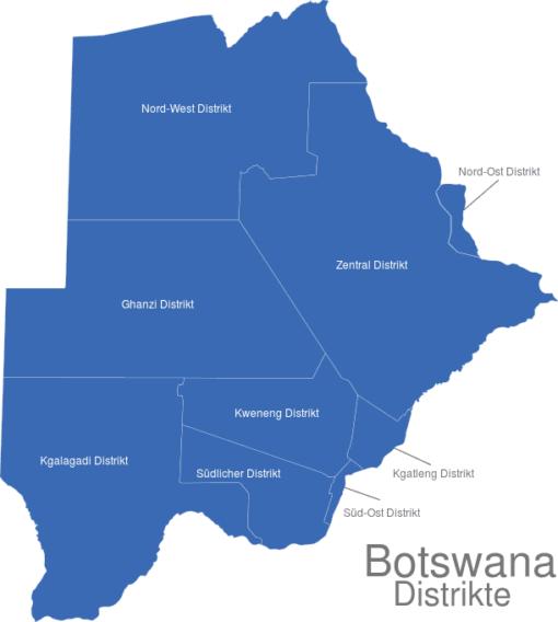 Botswana Distrikte