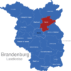 Map Brandenburg Kreise Barnim