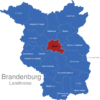 Map Brandenburg Kreise Berlin