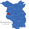 Map Brandenburg Kreise Brandenburg