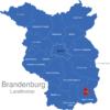 Map Brandenburg Kreise Cottbus