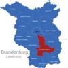 Map Brandenburg Kreise Dahme_Spreewald_1_