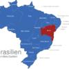 Map Brasilien Bundesstaaten Bahia