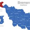 Map Bremen Stadtteile Blumenthal
