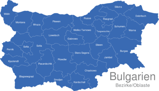 Bulgaria Bezirke Oblaste