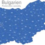 Map Bulgarien Postleitzahlen Zweistellig PLZ-13-BG_1_