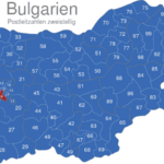 Map Bulgarien Postleitzahlen Zweistellig PLZ-14-BG_1_