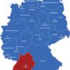 Map Bundesländer Hauptstädte Deutschlandkarte Baden_Wurttemberg