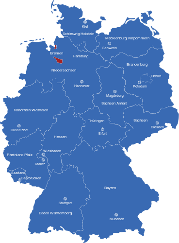 Deutschlandkarte Bundesländer Hauptstädte