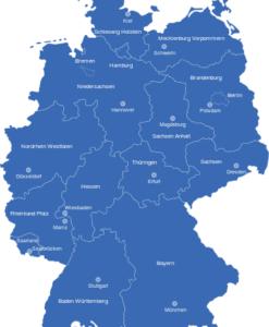interaktive Landkarte Deutschland Bundesländer Hauptstädte