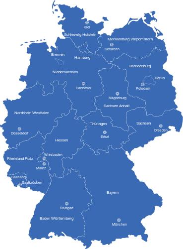 interaktive Karte Deutschland Bundesländer Hauptstädte