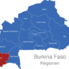 Map Burkina Faso Regionen Cascades