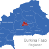 Map Burkina Faso Regionen Centre