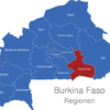 Map Burkina Faso Regionen Centre-Est