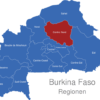 Map Burkina Faso Regionen Centre-Nord