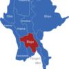 Map Burma Myanmar Regionen Bago