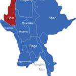 Map Burma Myanmar Regionen Chin
