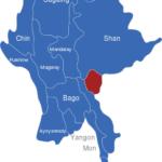 Map Burma Myanmar Regionen Kayah
