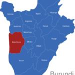 Map Burundi Provinzen Bujumbura