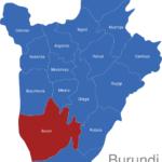 Map Burundi Provinzen Bururi