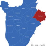 Map Burundi Provinzen Cankuzo