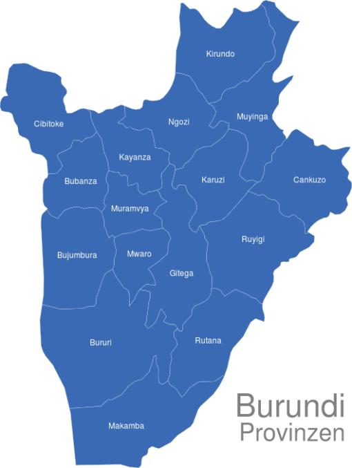 Burundi Provinzen