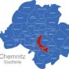 Map Chemnitz Ortsteile Altchemnitz
