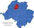 Map Chemnitz Ortsteile Borna-Heinersdorf