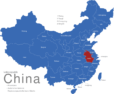 Map China Provinzen Anhui