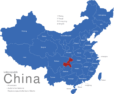 Map China Provinzen Chongqing_1_