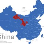 Map China Provinzen Gansu
