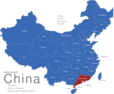 Map China Provinzen Guangdong