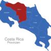 Map Costa Rica Provinzen Alajuela