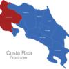 Map Costa Rica Provinzen Guanacaste