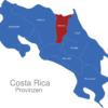 Map Costa Rica Provinzen Heredia