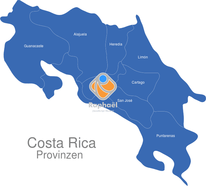 Costa Rica Provinzen