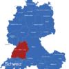 Map D A Ch Karte Mit Bundesländern Baden_Württemberg_1_