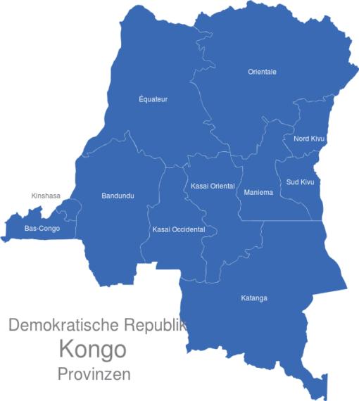 D.R. Kongo Provinzen