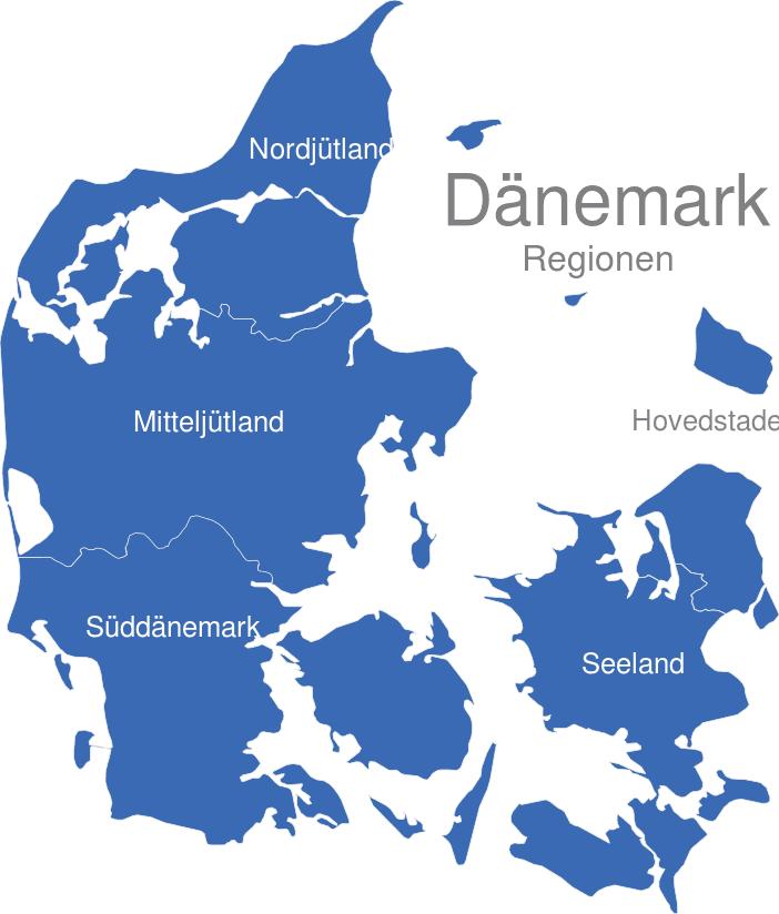 dänemark karte regionen Dänemark Regionen interaktive Landkarte | Image maps.de